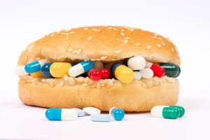 Eating medicines with a sandwich